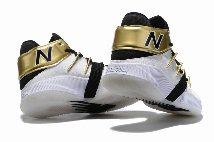 New Balance Kawhi Leonard Shoes White Gold Black
